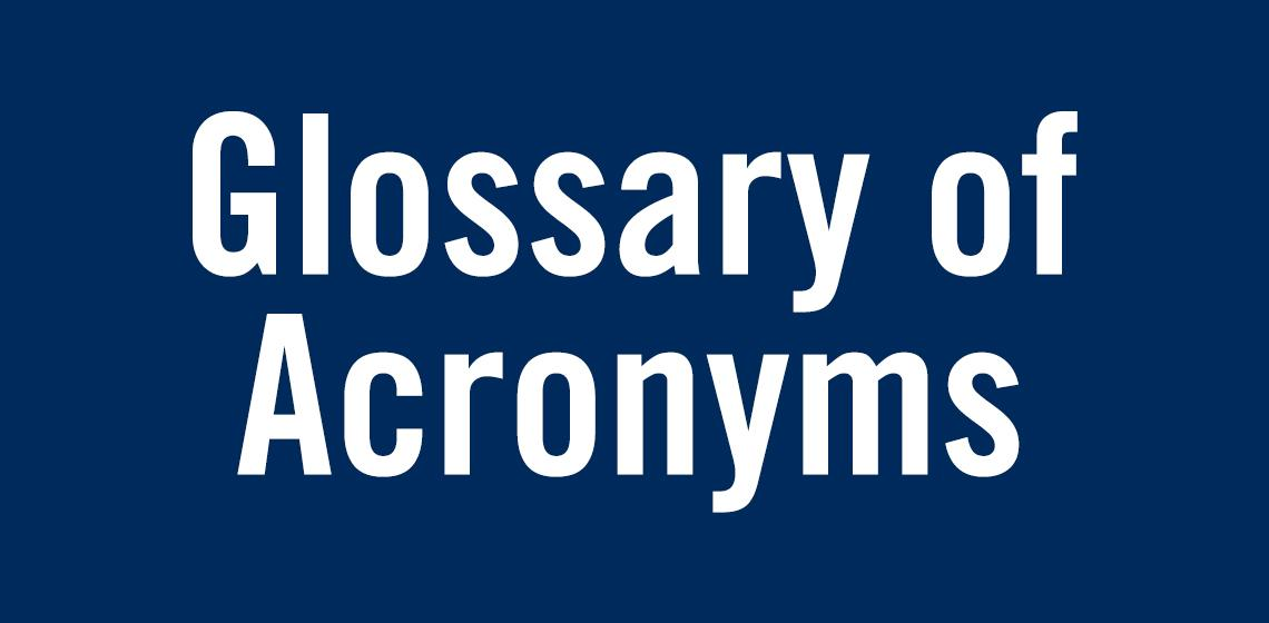 Glossary of Acronyms