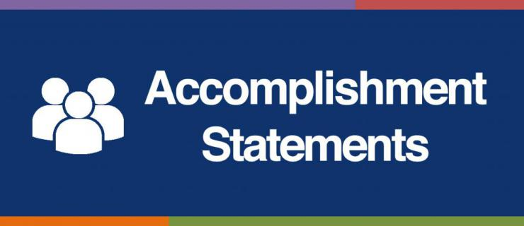 accomplishment statements academic advising career centre