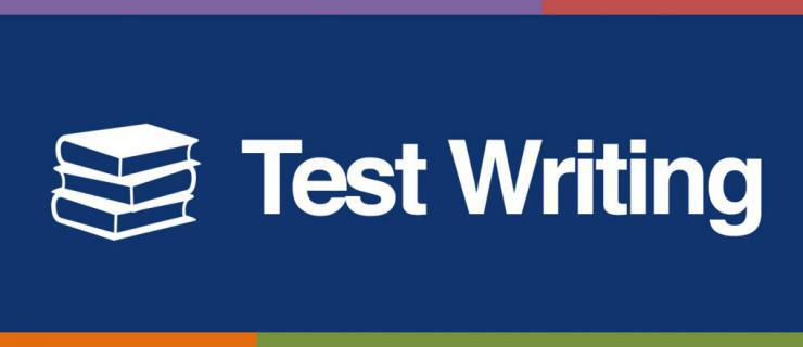 test writing tip sheet banner