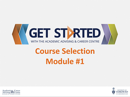 Course Selection Module 1