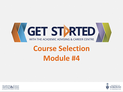 Course Selection Module 4