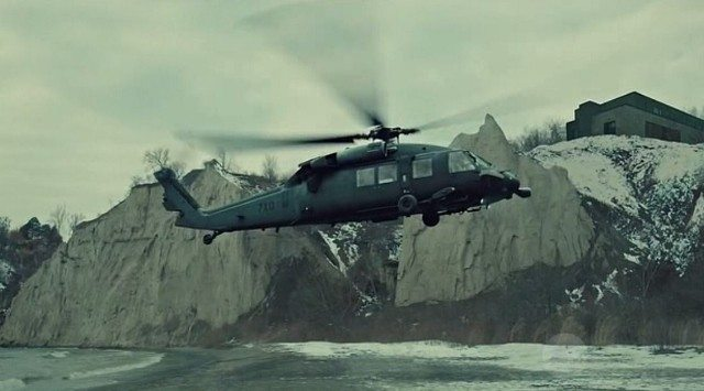 Scarborough bluffs and cgi helicopter
