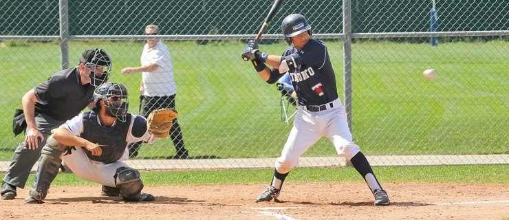 Baseball player at the plate