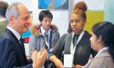 Meric Gertler and students