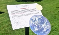 Solar walk Earth plackard.