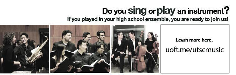 Do you sing or play an instrument? Join our ensembles at uoft.me/utscmusic