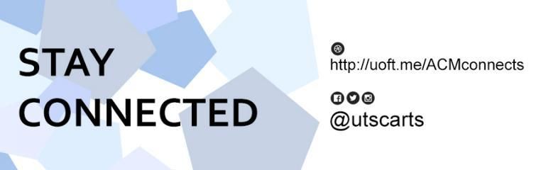 Stay connected by following us on our social media channels @utscarts