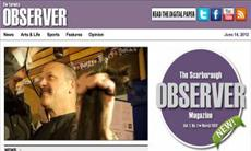 Graphic screenshot of the Toronto Observer website
