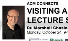 ACM Visiting Artist Series with Dr. Marshall Chasin. October 24, 2016. 9-10am. AA112