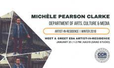 Meet Michele Pearson Clarke, the Arts, Culture and Media Department Equity and Diversity initiative's artist in residence.