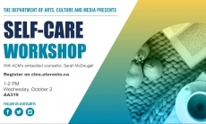 Self-care workshop with ACM's embedded counsellor, Sarah McDougall