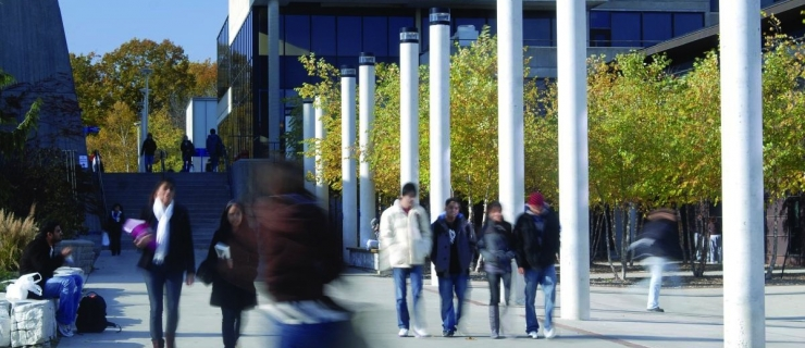 Students walking in the ARC walkway