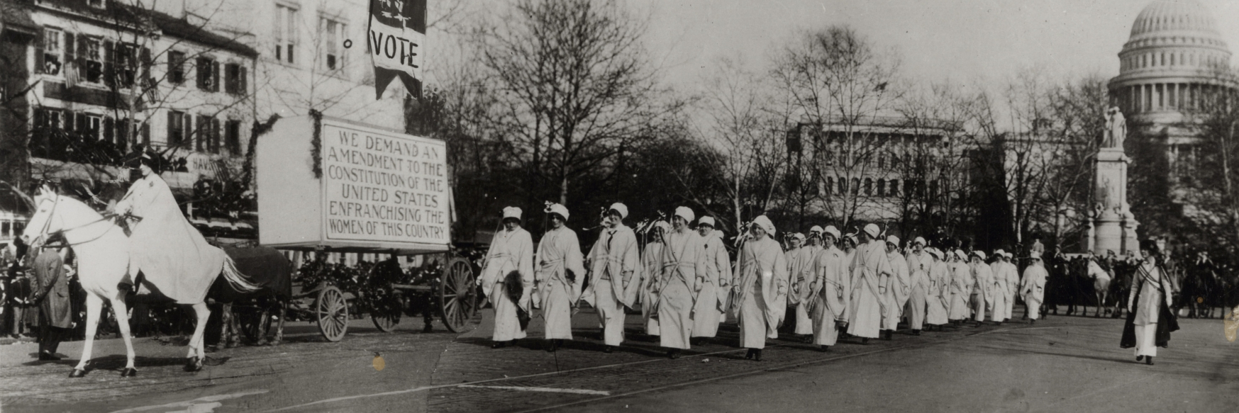 suffragettes marching in washington