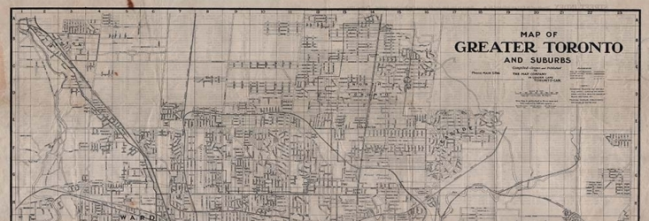 Map of Toronto and suburbs in 1916
