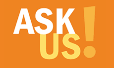 Ask us! (logo)