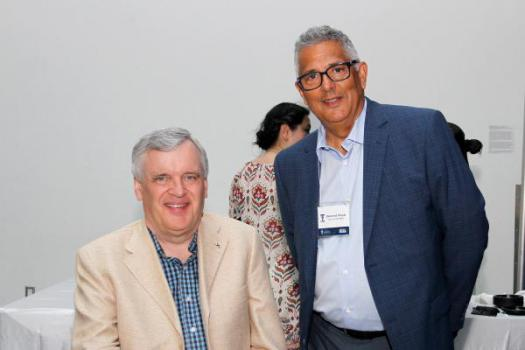 Professor David Onley and Dean of Student Affairs, Desmond Pouyat