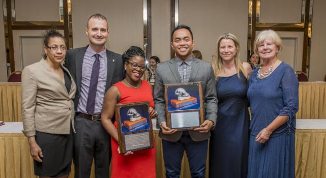 A.F.W Plumptre Award Recipients Simone Robinson and Charles Dumrique