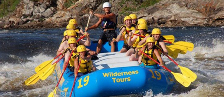 white water raftinga