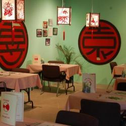 old-fashioned Chinese restaurant interior