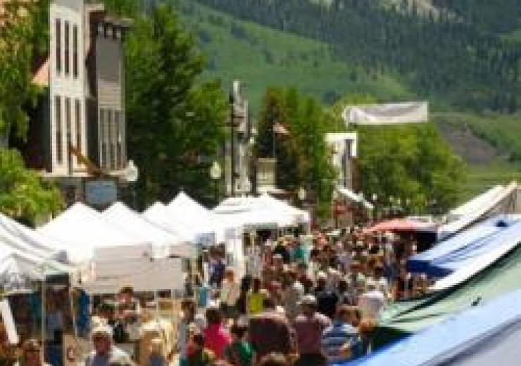 Farmers market in Colorado