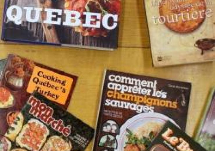 Assorted Quebec food books and magaines