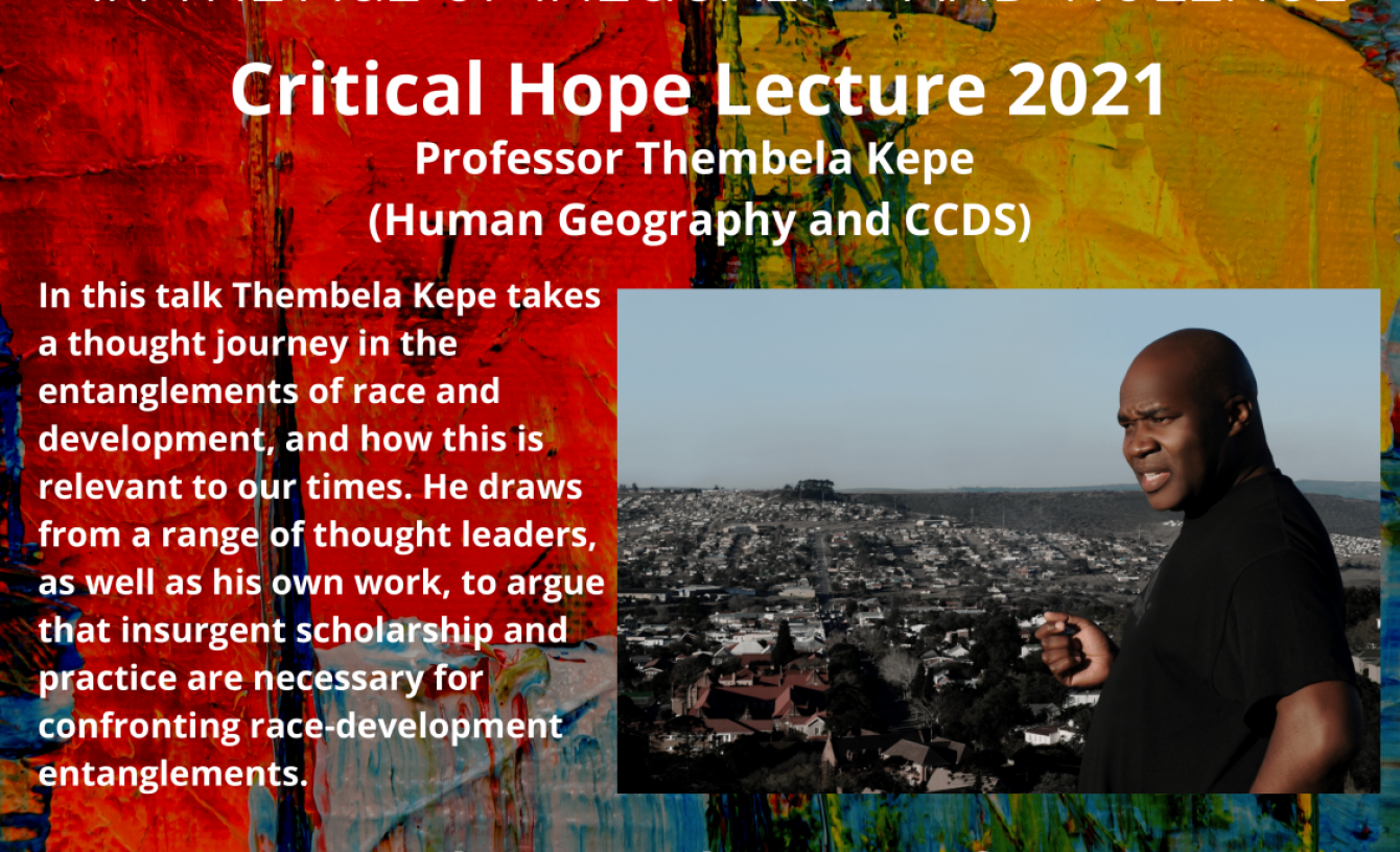 Critical Hope Lecture 2021 Poster