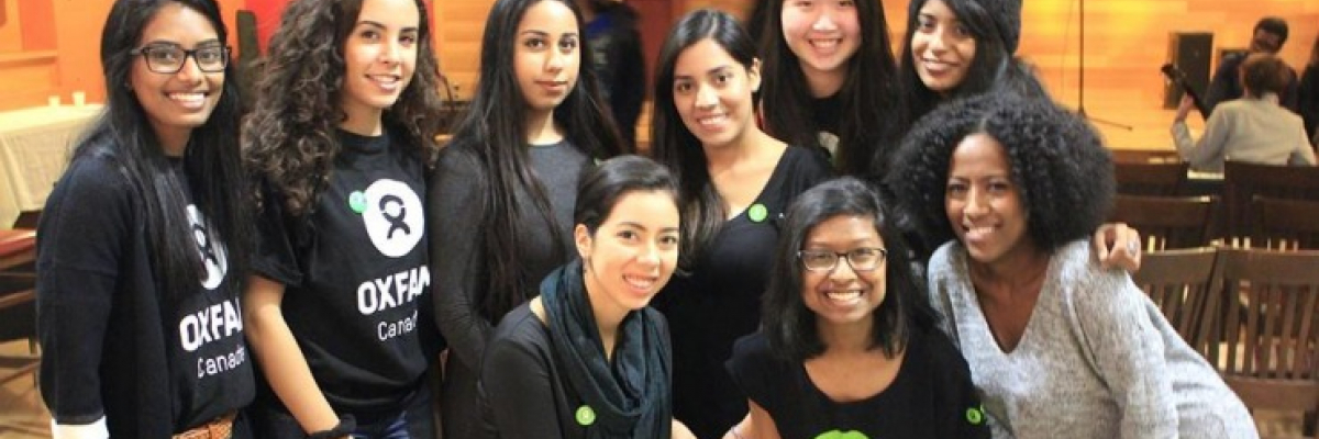 Oxfam UTSC students at one of their events