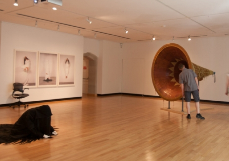 art gallery with a big beaver in it