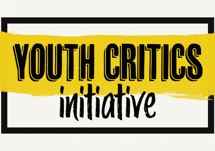 """Yellow and black """"Youth Critics Initiative"""" header"""