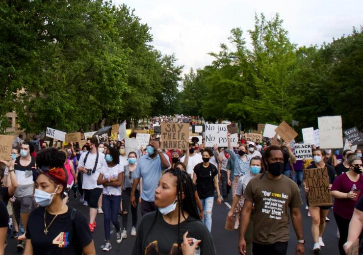 Image by Leslie Cross. Photo of a Black Lives Matter Protest
