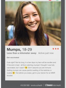 girl who has mumps before she is sick