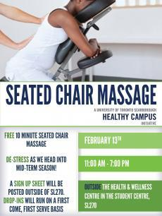 Seated Chair Massage February 13 11am 7pm Sl270 Health