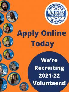 pics of students on video calls and text We're Recruiting 2021-22 Volunteers