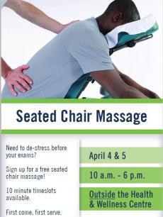 poster of man receiving chair massage