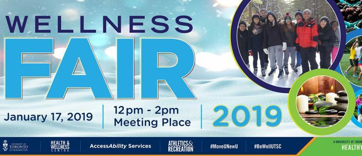 Wellness Fair banner with details