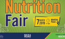 banner Nutrition Fair March 7 2019, 12-2pm, Meeting Place text