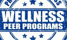 Promoting Wellness on Campus text in circle logo and Wellness Peer Programs text across middle of circle