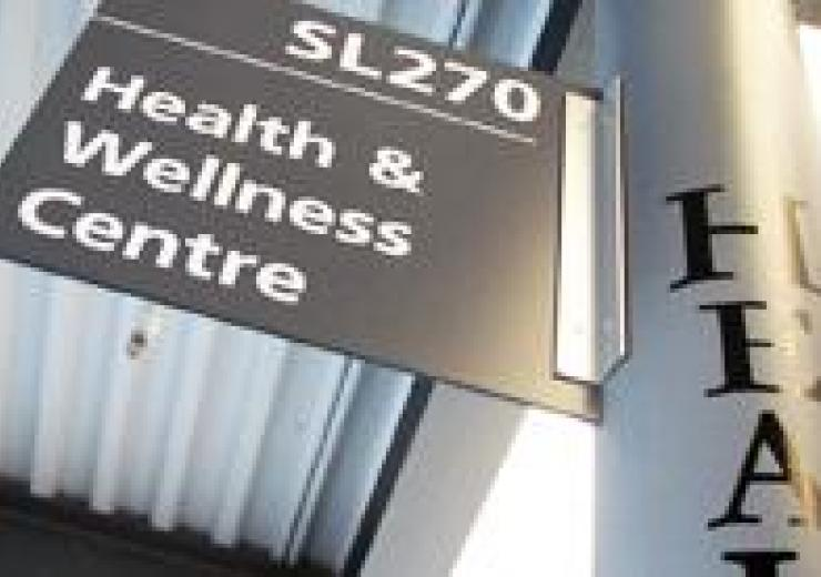 Health & Wellness Centre sign