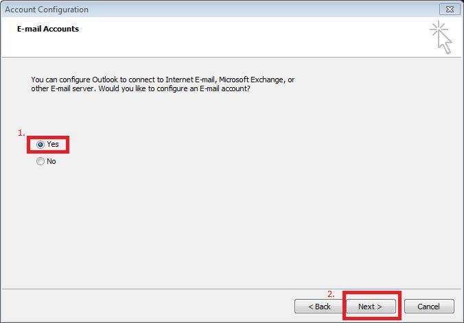 Outlook 2010 Email Setup   Information & Instructional
