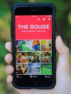 the Rouge mobile application home screen