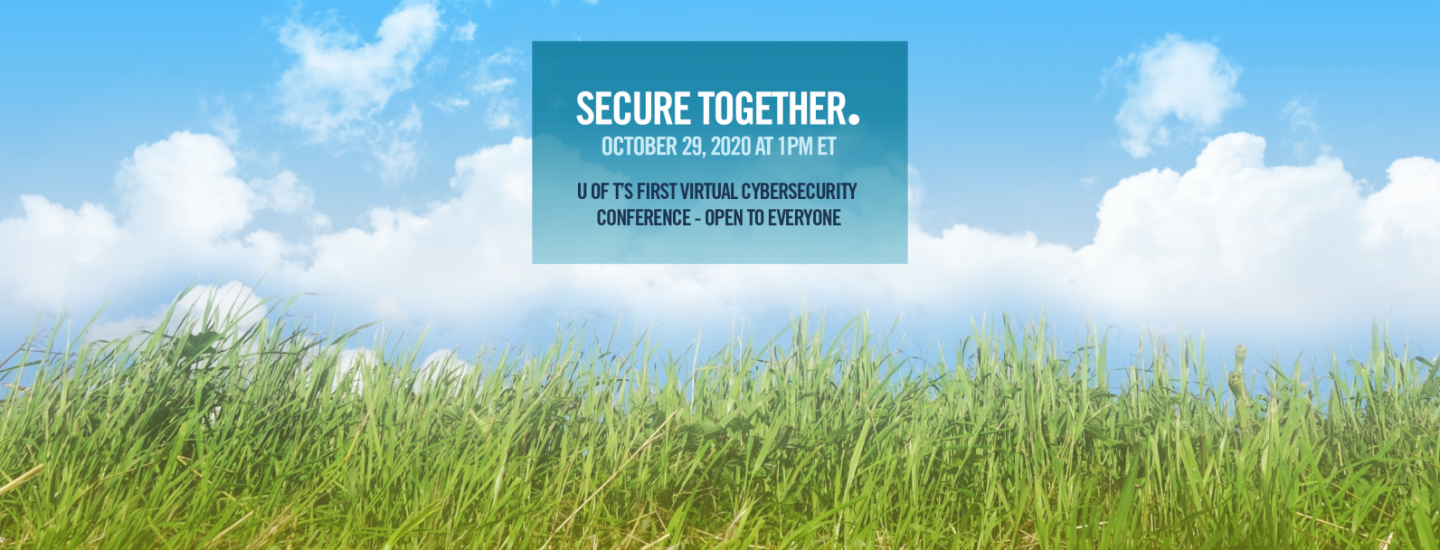 Secure Together Conference October 29 Online Free to Everyone