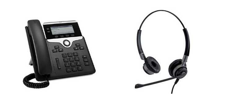 headset and voip phone