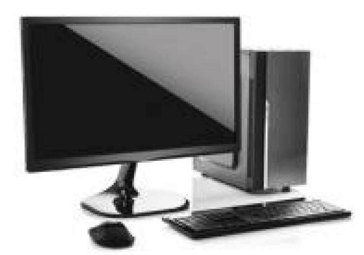 stock image of desktop computer