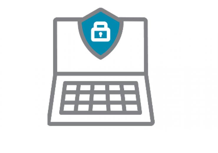 laptop icon - security awareness month logo