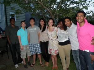 Undergrad assistants, BBQ chez Andrade-Mason, 2012
