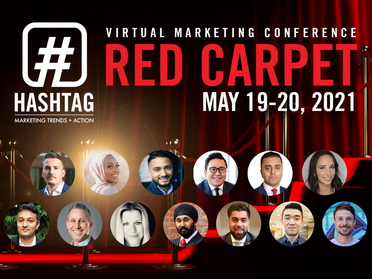 Hashtag Red Carpet - Virtual Marketing Conference Poster