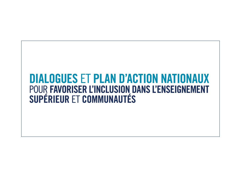 Logo des Dialogues et Plan d'Action Nationaux pour favoriser l'inclusion dans l'enseignement...