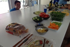 Healthy ingredients students used for their masterpiece!