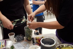 Students coming up with creative ways to make their smoothies