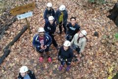 Looking below at UTSC students looking like ants
